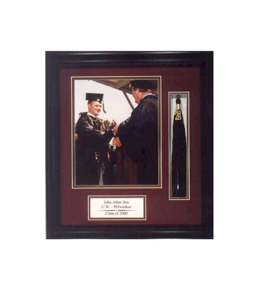Cvstudios Store Large Cherry Wood Graduation Tassel Frame